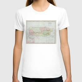 Vintage Map of Puerto Rico (1901) T-shirt