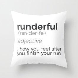 Adrenaline Rush Runner's High Running Is Life Run Design Throw Pillow