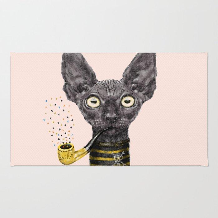 Black Cat Rug