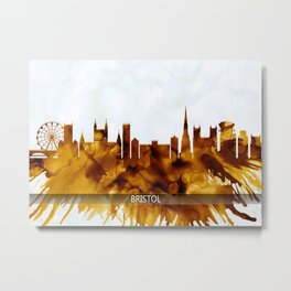 Bristol England Skyline Metal Print