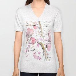 Sumie No.14 Magnolia Unisex V-Neck
