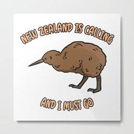 New Zealand Is Calling Metal Print