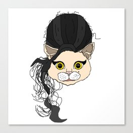 Amy Cat Head Canvas Print