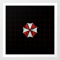 resident evil Art Prints featuring Resident Evil Umbrella Corporation  by DavinciArt