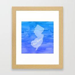 Sweet Home New Jersey Framed Art Print