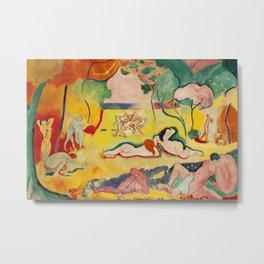 Henri Matisse - Le bonheur de Vivre (The Joy of Life) portrait painting Metal Print