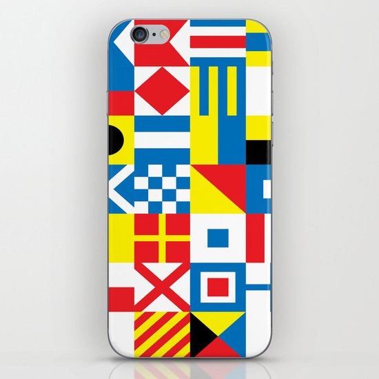 International Alphabetical Marine Signal Flags iPhone & iPod Skin