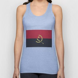 Flag of Angola, officially the Republic of Angola.  Unisex Tank Top