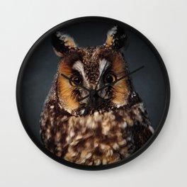 The Long-eared Owl Wall Clock