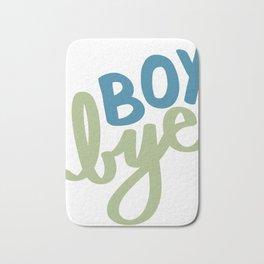 Boy, Bye Bath Mat
