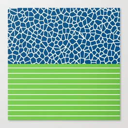 staklo (blue with green) Canvas Print