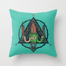 He, with the peculiar voice Throw Pillow