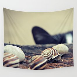 Cat Snails Wall Tapestry