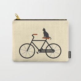 Cat Riding Bike Carry-All Pouch