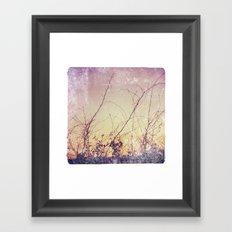 sea plants (purple) Framed Art Print