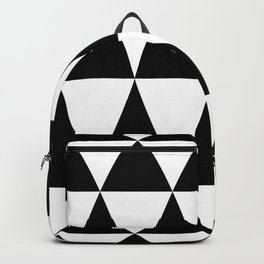 Triangle waves and swirls Backpack