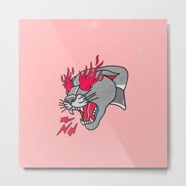 Panther Flame Metal Print