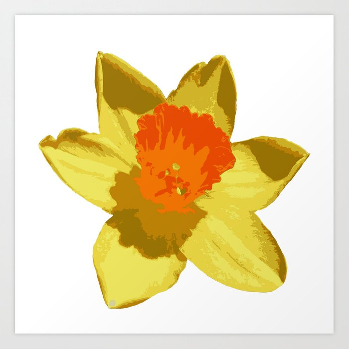 1fd30a742 Spring Daffodil Vector Isolated Art Print by taiche | Society6