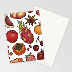 Red Food Stationery Cards