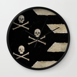 Cut Skull Flag Wall Clock