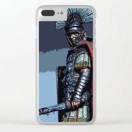 Ancient Roman Centurion Clear iPhone Case