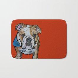 Johnny the English Bulldog Bath Mat