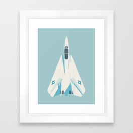 F14 Tomcat Fighter Jet Aircraft - Sky Framed Art Print