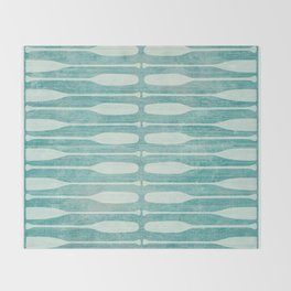 Vintage Coast Boat Paddles Throw Blanket