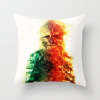 chewbacca Throw Pillows featuring Chewbacca by Tom Johnson