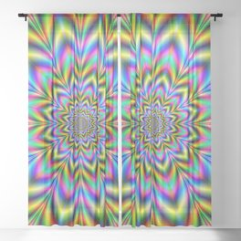 Psychedelic Flower Sheer Curtain