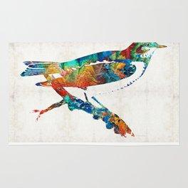 Colorful Bird Art - Sweet Song - By Sharon Cummings Rug