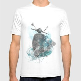 VESPA from the retro project T-shirt