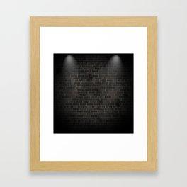 black wall Framed Art Print