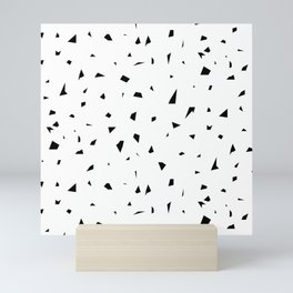 SHATTERED AND SCATTERED MONOCHROME Mini Art Print