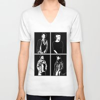 1975 V-neck T-shirts featuring 1975. by Spazy Art