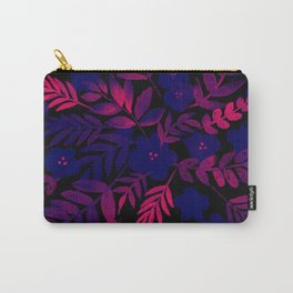 Neon Floral Print Carry-All Pouch