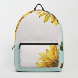 Sunflower Mid Century Botanical Backpack