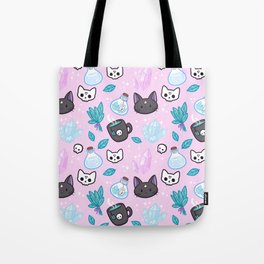 Herb Witch // Pink Tote Bag