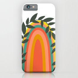 Blooming Rainbow iPhone Case