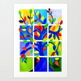 Tree of Life, bright colors Art Print
