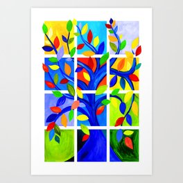 Tree of Life, bright colors Art Print