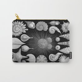 Sea Shells and Starfish (Thalamophora) by Ernst Haeckel Carry-All Pouch