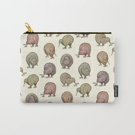Hungry Kiwis – Cool Earth Tones Carry-All Pouch