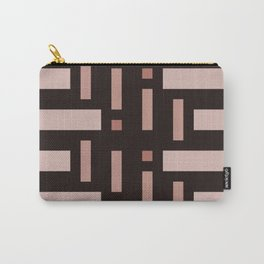 Pattern of Squares in Brown Carry-All Pouch