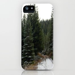 First winter snow.. iPhone Case