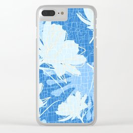 Batik Cosmos and African Daisy Clear iPhone Case