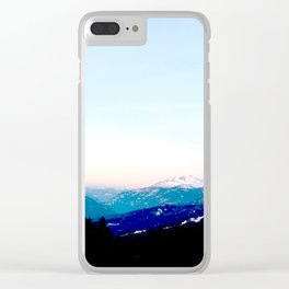 Mountain views abstracted to color blocks Clear iPhone Case