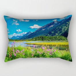 God's Country - Summer in Alaska Rectangular Pillow