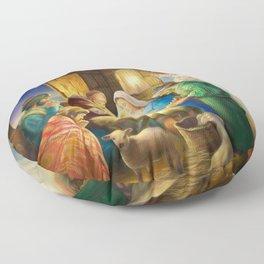Nativity, holy night Floor Pillow