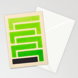 Lime Green Aztec Pattern Stationery Cards